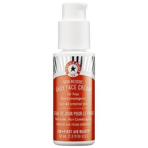 First Aid Beauty Skin Rescue Daily Face Cream is non-comedogenic, hydrating and free of common skin irritants.