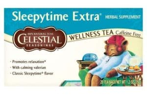 Celestial Seasonings Sleepytime Extra Herbal Tea combines several plant extracts in order to help promote relaxation.