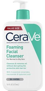 CeraVe Foaming Facial Cleanser – Normal to Oily Skin