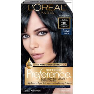 Loreal Paris black saphire hair dye